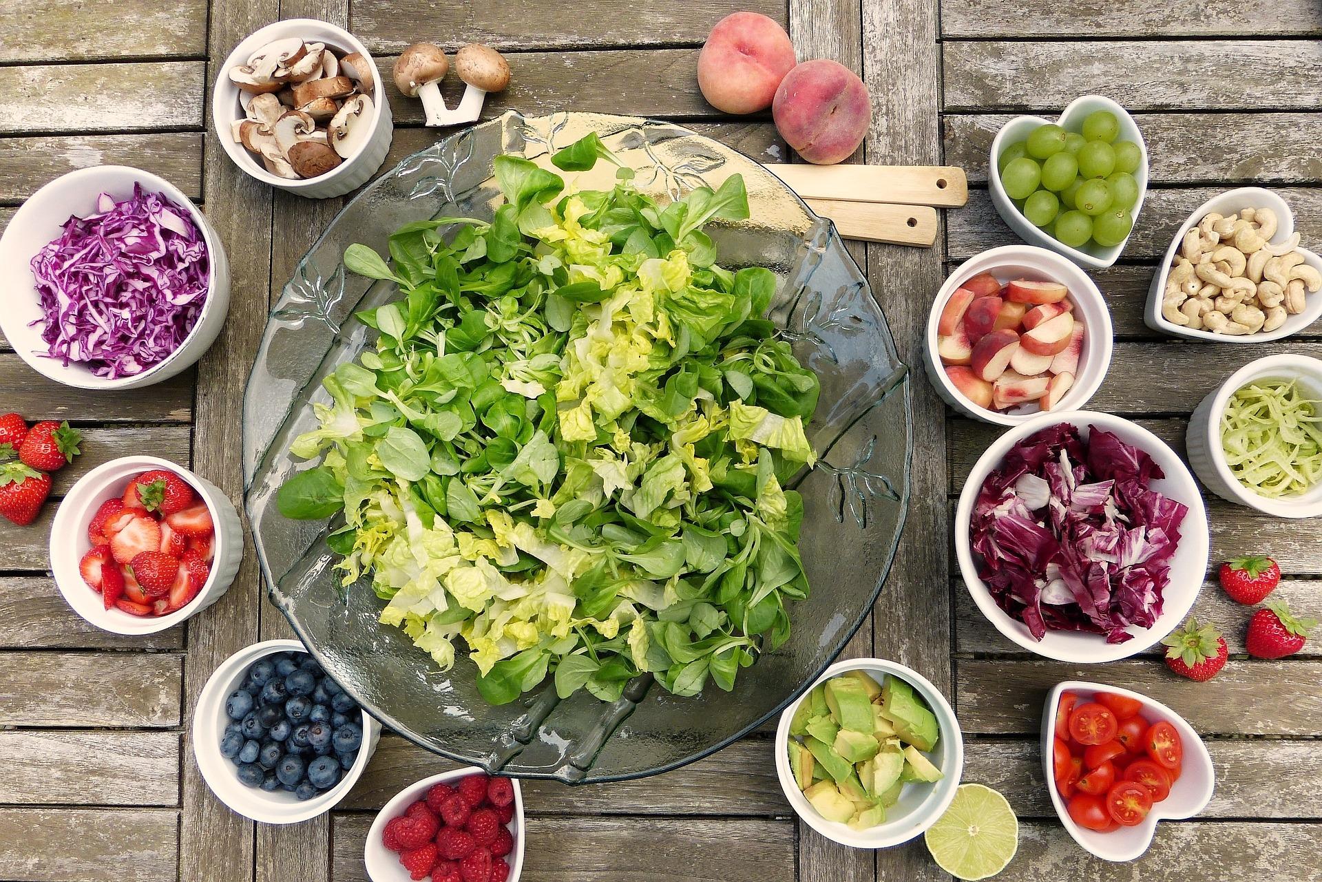 Immer frisch - unsere Salatbar
