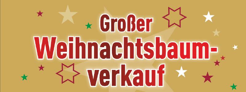 Großer Weihnachtsbaumverkauf!